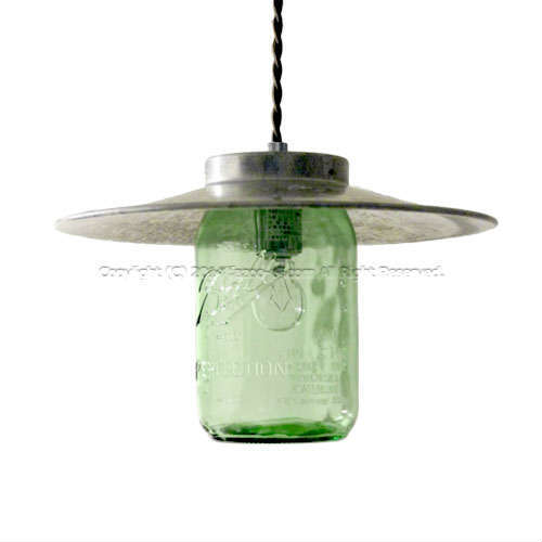 Ball MASON JAR(ボールメイソンジャー) CANISTER LAMP1 ミディアム 32oz グリーン GS-003TC/32OZ(GR)+BL-69100 HERMOSA(ハモサ)製ペンダントライト