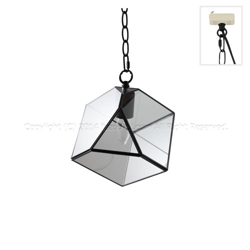 002407 squarebk lamp by craft terrarium 1 bulb pendant light lampbycraftterrarium1squarebk m01 mozeypictures Image collections